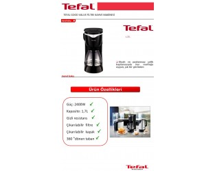 Tefal Good Value Filtre Kahve Makinesi
